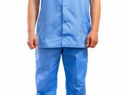 Костюм медицинский голубой куртка с брюками