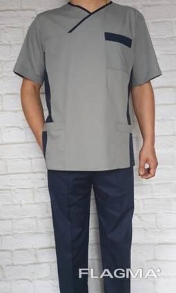 Костюм медицинский мужской рубашечная ткань