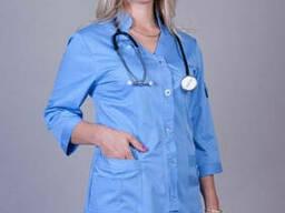 Костюм медицинский женский, стильная спецодежда