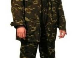 Костюм, мужской, рабочий, куртка брюки, камуфлированный