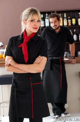 Костюм официанта, блуза, рубашка, фартук, мужской. женский