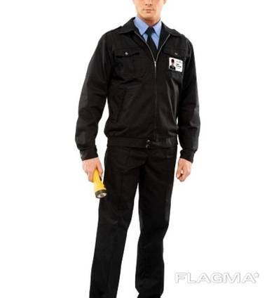 Костюм охранника 'Плаза' (куртка брюки) цвет чёрный.