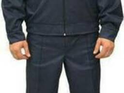 Костюм охранника 'Плаза' (куртка брюки) цвет т. синий