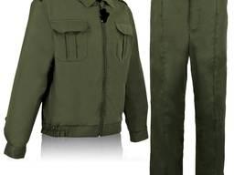 Костюм охранника олива с накладными карманами