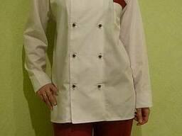 Костюм поварской бело-красный
