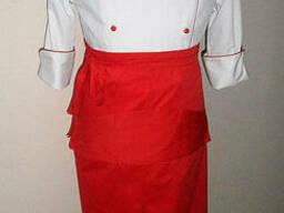 Костюм поварской с фартуком, униформа повара