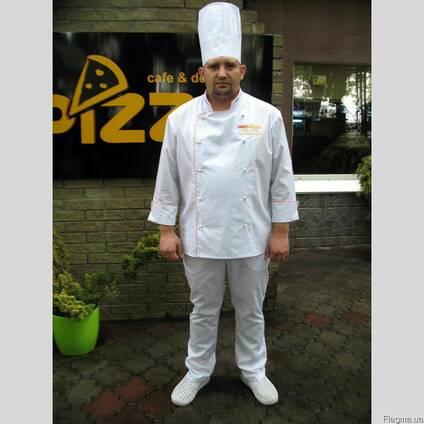 Костюм поварской, спецодежда для кухни, униформа шефповара