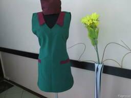 Костюм продавца фартук-накидка и шапочка пошив