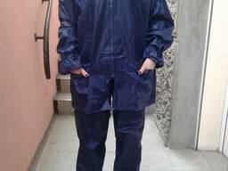 Дождевик ПВХ с нейлоном , куртка брюки. цвет темно-синий