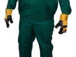 Костюм рабочий, брюки куртка, тк. Саржа т. зеленый