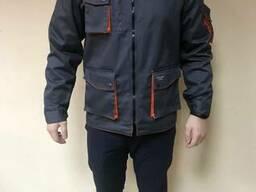 """Куртка рабочая """"Декстер"""" демисезонная, серо-оранжевая"""