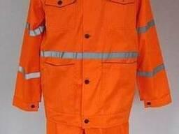 Костюм рабочий демисезонный оранжевый с СВП