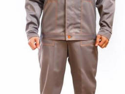 Костюм рабочий демисезонный серый куртка с брюками