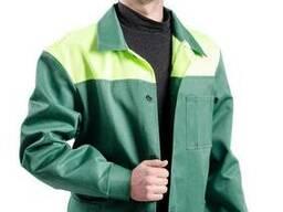Костюм рабочий грета зеленый с лимонной кокеткой кокеткой