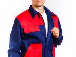 Костюм рабочий Инженер сине-красный