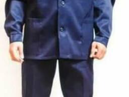Костюм рабочий Профи темно-синий с брюками