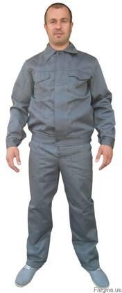 Рабочий костюм из ткани грета серого цвета