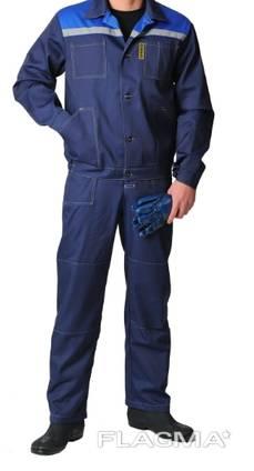 Костюм рабочий, смесовая Гарда Цвет темно-синий с васильковым