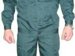 Полукомбинезон с курткой, рабочий, тёмно зелёный