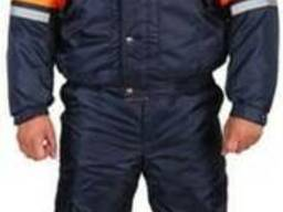 Костюм рабочий СТИМ Оксфорд синий с оранжевым