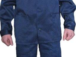 Костюм рабочий тк. грета синий с оранжевой кокеткой