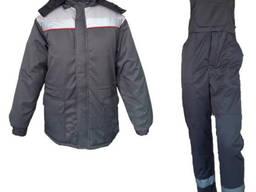 Костюм рабочий утепленный куртка полукомбинезон ткань грета ЧШК