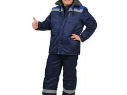 Костюм рабочий, утеплённый(куртка с полукомбинезоном)