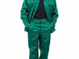Костюм рабочий зеленый 53%хб (украинская грета) куртка брюки