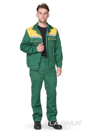 Костюм рабочий зелёного цвета