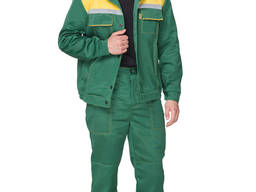 Рабочий костюм зелёного цвета