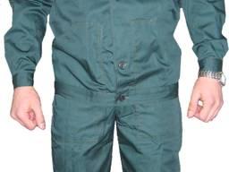 Костюм рабочий зеленый с полукомбинезоном