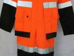 Костюм сигнальный черно - оранжевый для строителей