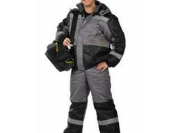 Костюм утепленный рабочий, зимние куртка и полукомбинезон