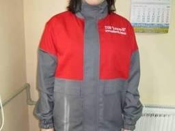 Костюм женский рабочий, костюм с логотипом, рабочая одежда