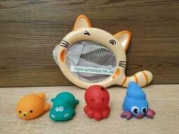 Кот сачок + игрушки поплавки