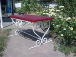 Кованая садовая скамейка Луцк