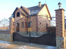Ковані ворота, забори, козирьки, поликарбонат.