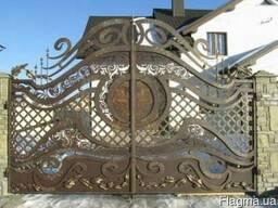 Кованные и вырезанные плазмой ворота и калитки