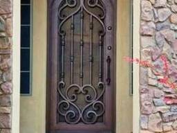 Кованые решетки на окна и двери.