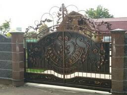Кованые ворота, кованые калитки.