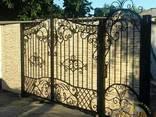 Кованые ворота с калиткой профнастил бюджет75-85тр - фото 3