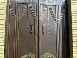 Копия Кованые ворота. Ворота металлические кованные. .. .