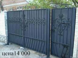 Кованые ворота заборы кованые брами калитки металлические