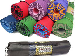 Коврик чехол Yoga Mat TPE 6/8 мм каремат для фитнеса, йоги, пилатеса