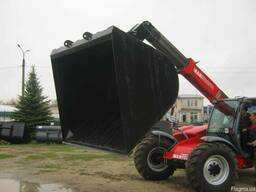 Ковш зерновой 5м. куб. на manitou jcb merlo bobcat claas cate - фото 3