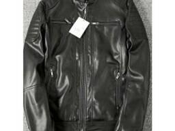 Кожаная куртка ECO True Guard черная