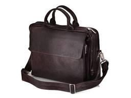 Кожаная сумка на плечо для ноутбука и документов. ..