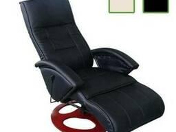 Кожаное кресло масажное стул с подогревом релакс