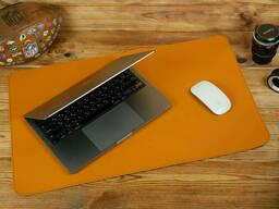 Кожаный бювар, подложка на стол 375 х 600 мм, натуральная кожа Grand, цвет Янтарь