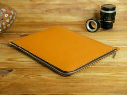 Кожаный чехол для MacBook на молнии, с войлочной подкладкой, кожа Grand, цвет Янтарь